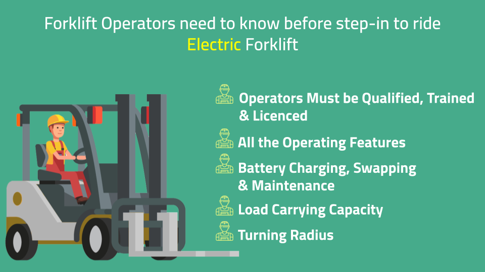 4 things to know before you ride electric forklift